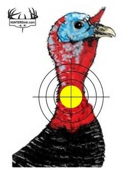 This is a graphic of Handy Printable Turkey Head Target